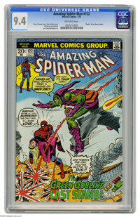 "The Amazing Spider-Man #122 (Marvel, 1973) CGC NM 9.4 Off-white pages. ""Death"" of the Green Goblin. John Romit..."
