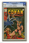Bronze Age (1970-1979):Superhero, Conan the Barbarian #4 (Marvel, 1971) CGC NM 9.4 Off-white to white pages. Barry Windsor-Smith cover art. Windsor-Smith and ...