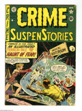 Golden Age (1938-1955):Horror, Crime SuspenStories #4 (EC, 1951) Condition: VG. Johnny Craigcover. Craig, Jack Kamen, Jack Davis, and Graham Ingels art. W...