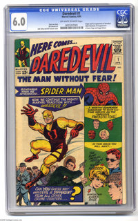 Daredevil #1 (Marvel, 1964) CGC FN 6.0 Off-white to white pages. Origin and first appearance of Daredevil. First appeara...