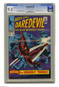 Daredevil #39 (Marvel, 1968) CGC NM- 9.2 Cream to off-white pages. Gene Colan cover art. Colan and George Tuska interior...