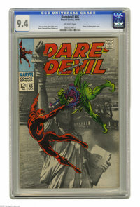 Daredevil #45 (Marvel, 1968) CGC NM 9.4 Off-white pages. Statue of Liberty photo cover. Gene Colan cover and art. Overst...
