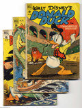 Golden Age (1938-1955):Cartoon Character, Donald Duck Group (Dell, 1950-51). This five-issue lot includes#308 (FR/GD), 318 (FR), 328 (VG), 339 (VG), and 348 (VG). Ap...(Total: 5 Comic Books Item)