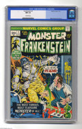 Bronze Age (1970-1979):Horror, Frankenstein #1 (Marvel, 1973) CGC NM 9.4 Off-white pages. MikePloog cover and art. Overstreet 2004 NM- 9.2 value = $70. CG...