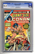 Bronze Age (1970-1979):Miscellaneous, Giant-Size Conan #3 (Marvel, 1975) CGC NM- 9.2 Off-white to whitepages. Reprints Conan the Barbarian #6. Gil Kane cover...