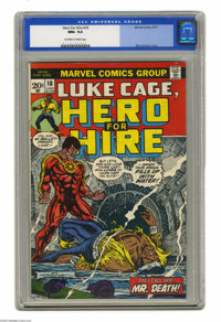 Hero for Hire #10 (Marvel, 1973) CGC NM+ 9.6 Off-white to white pages. Billy Graham cover art. George Tuska interior art...