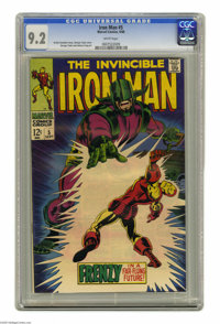 Iron Man #5 (Marvel, 1968) CGC NM- 9.2 White pages. George Tuska cover. Tuska and Johnny Craig art. Overstreet 2004 NM-...