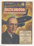 Golden Age (1938-1955):Non-Fiction, Jim Ray's Aviation Sketchbook #1 (Vital Publications, 1946)Condition: VG. Soar into the wild blue yonder with the first iss...