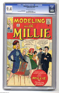 Silver Age (1956-1969):Humor, Modeling with Millie #23 (Marvel, 1963) CGC NM 9.4 Off-white to white pages. Stan Goldberg cover and art. Overstreet 2004 NM...