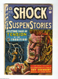 "Golden Age (1938-1955):Horror, Shock SuspenStories #7 (EC, 1953) Condition: VG+. Al Feldsteincover (called ""classic""by Overstreet). Adaptation of a Ray Br..."