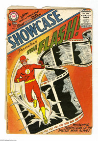 Showcase #4 The Flash (DC, 1956) Condition: PR. Origin and first appearance of the Flash (first DC Silver Age hero). Fir...