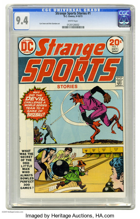 Strange Sports Stories #1 (DC, 1973) CGC NM 9.4 White pages. Curt Swan and Dick Giordano art. Overstreet 2004 NM- 9.2 value ...