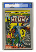 Bronze Age (1970-1979):Horror, Supernatural Thrillers #5 (Marvel, 1973) CGC VF/NM 9.0 Off-whitepages. First appearance of the Living Mummy. George Tuska a...