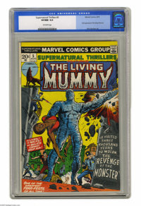 Supernatural Thrillers #5 (Marvel, 1973) CGC VF/NM 9.0 Off-white pages. First appearance of the Living Mummy. George Tus...