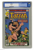 Bronze Age (1970-1979):Miscellaneous, Tarzan (Marvel) #1 (Marvel, 1977) CGC NM 9.4 White pages. A newseries based on the Lord of the Jungle began with this issue...