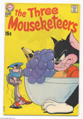 Bronze Age (1970-1979):Cartoon Character, The Three Mouseketeers #1 (DC, 1970) Condition: FN/VF. Small chipon the spine by the top staple, small stain on the back co...
