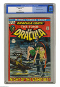 Bronze Age (1970-1979):Horror, Tomb of Dracula #1 (Marvel, 1972) CGC NM 9.4 White pages. Firstappearance of Dracula and Frank Drake. Neal Adams cover. Gen...