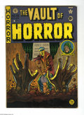 Golden Age (1938-1955):Horror, Vault of Horror #15 (EC, 1950) Condition: VG. Johnny Craig cover.Craig, Al Feldstein, Graham Ingels, and Jack Kamen art. Ov...