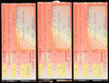 Basketball Collectibles:Others, 1984-85 Chicago Bulls Ticket Stub Trio - Michael Jordan RookieSeason....