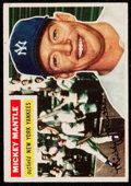 Baseball Cards:Singles (1950-1959), 1956 Topps Mickey Mantle (Gray Back) #135....