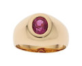 Estate Jewelry:Rings, Gentleman's Pink Sapphire, Gold Ring The ring ...