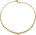 Estate Jewelry:Necklaces, Gold Necklace, Cartier, French The 18k gold ne...