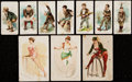 """Non-Sport Cards:Lots, 1889 Duke's Cigarettes """"Terrors of America"""" & W.S. Kimball """"Pretty Athletes"""" Collection (10)...."""