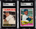 Autographs:Sports Cards, Signed Elston Howard 1964 Topps & 1965 Topps SGC Authentic Pair (2)....