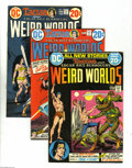 Bronze Age (1970-1979):Miscellaneous, Weird Worlds #1-10 Group (DC, 1972-74) Condition: Average FN+. Acomplete set of the adventure anthology series; includes #1...(Total: 10 Comic Books Item)