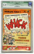Golden Age (1938-1955):Humor, Whack #1 (St. John, 1953) CGC Qualified VG/FN 5.0 Cream to off-white pages. 3-D glasses included. Joe Kubert and Dave Berg a...