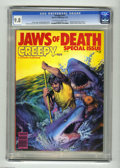 """Bronze Age (1970-1979):Horror, Creepy #101 (Warren, 1978) CGC NM/MT 9.8 Off-white to white pages.Special """"Jaws of Death"""" issue. Richard Corben cover art. ..."""