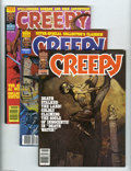 Bronze Age (1970-1979):Horror, Creepy Group (Warren, 1980-83) Condition: Average VF. Seven issuesin this lot include #120 (VF), 121 (VF), 137 (VF+), 138 (...(Total: 7 items Item)