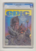 "Magazines:Science-Fiction, Epic Illustrated #2 (Marvel, 1980) CGC NM 9.4 White pages. Featuresadaptation of Robert E. Howard's ""Almuric."" Glen A. Lars..."