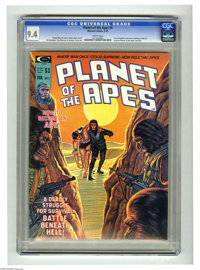 Planet of the Apes #5 (Marvel, 1975) CGC NM 9.4 White pages. Bob Larkin cover art. Jim Mooney and George Tuska interior...