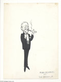 Original Comic Art:Sketches, Dick Hodgins Jr. - Rube Goldberg Portrait Illustration Original Art(undated). Dick Hodgins Jr., artist of Half Hitch, d...
