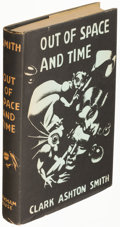 Books:Horror & Supernatural, Clark Ashton Smith. Out of Space and Time. Sauk City: 1942. First edition....