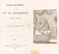 Books:World History, [Magic]. Endless Amusements. Or the Art of Legerdemain Made Easy. Boston: Published by Theodore Abbot, 1846. Twe...