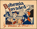 """Movie Posters:Miscellaneous, Bohemia Invaded by James L. Ford (c. 1895). Very Fine-. Promotional Poster (14"""" X 11"""") A. W .B. Lincoln Artwork.. ..."""
