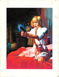 A Degree of Murder by Jean Mascii (Universal, 1969). Very Fine-. Signed Original Gouache Poster Artwork on Illustration...