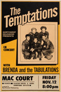 Music Memorabilia:Posters, The Temptations Mac Court Concert Poster (Norwest Releasing,1971)....
