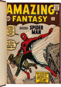 Amazing Fantasy #15/Amazing Spider-Man #1-10 Bound Volume Signed by Stan Lee (Marvel, 1962-64)
