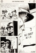 Original Comic Art:Panel Pages, Russ Heath Our Fighting Forces #28 Story Page 6 Original Art (DC, 1957)....