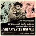 "Movie Posters:Comedy, The Lavender Hill Mob (Rank, 1951). Fine+ on Linen. British SixSheet (76.75"" X 77"") Ronald Searle Artwork.. ..."