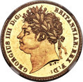Great Britain, George IV gold Proof 1/2 Sovereign 1821 PR64 NGC, ...