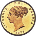Great Britain, Great Britain: Victoria gold Proof 1/2 Sovereign 1853 PR64 Deep Cameo PCGS,...
