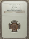 India:British India, India: British India. Edward VII 5-Piece Lot of Certified 1/12 Annas NGC, ... (Total: 5 coins)