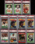 Football Cards:Lots, 1971-1979 Topps OJ Simpson PSA Graded Collection (11)....