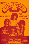 Music Memorabilia:Memorabilia, Led Zeppelin Hollywood Speedway Park Concert Handbill (Concerts West, 1971). Very Rare....