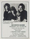 Music Memorabilia:Memorabilia, The Doors Sam Houston Coliseum Concert Handbill (1968). VeryRare....