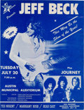 Music Memorabilia:Memorabilia, Jeff Beck Austin Municipal Auditorium Concert Handbill (Stone City Attractions,1976)....